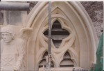 Newport Minster. Angel and Tracery